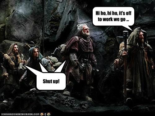 annoying disney dwarves shut up singing snow white song The Hobbit - 6522897920