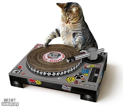 cat design dj turntable - 6522942976