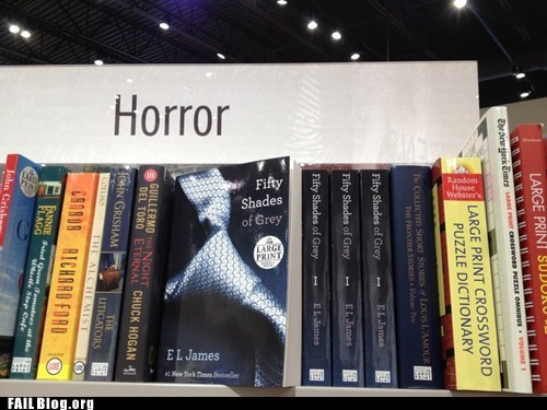 books,fifty shades of grey,horror,reading,shelving