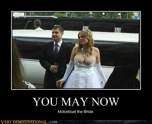 bewbs bride KISS motorboat - 6523074560