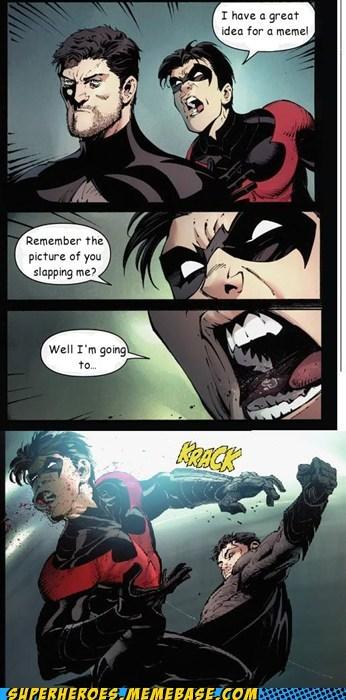 batman meme nightwing yelling - 6523378944