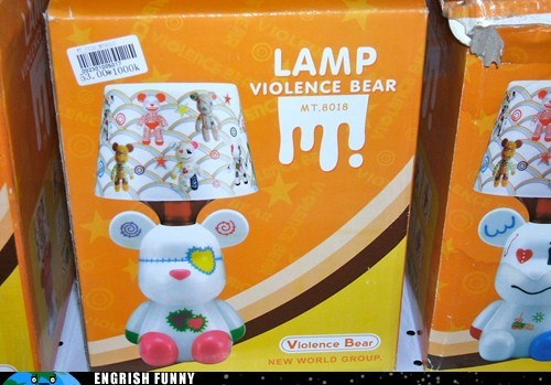 bear creepy lamp oh Japan