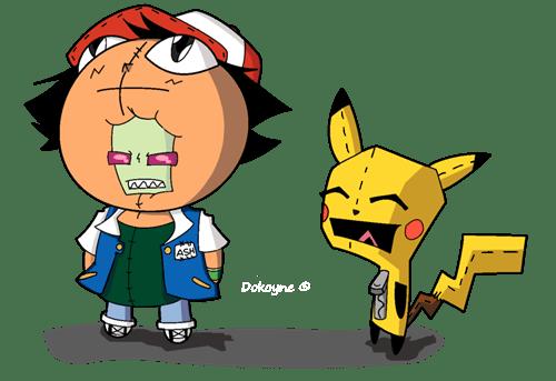 cartoons crossover Fan Art Invader Zim Pokémon - 6523871488
