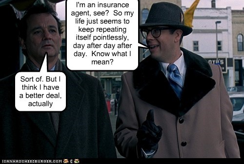90s,actor,bill murray,celeb,funny,groundhog day,Movie,Stephen Tobolowsky