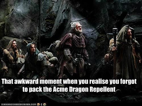 dragon dwarves forgot repellent that awkward moment The Hobbit - 6524686336