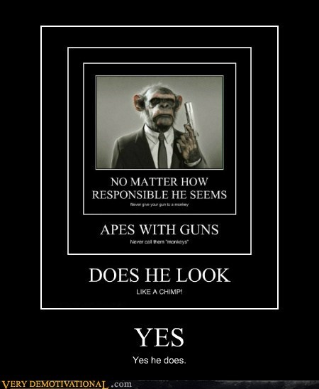 chimp,gun,pulp fiction