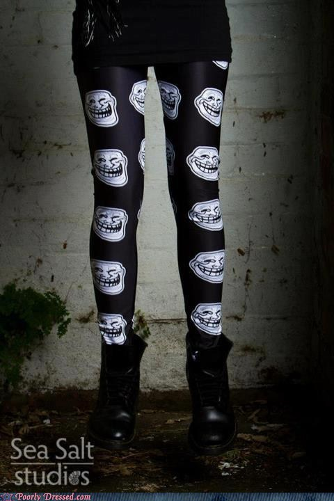 leggings,troll faces