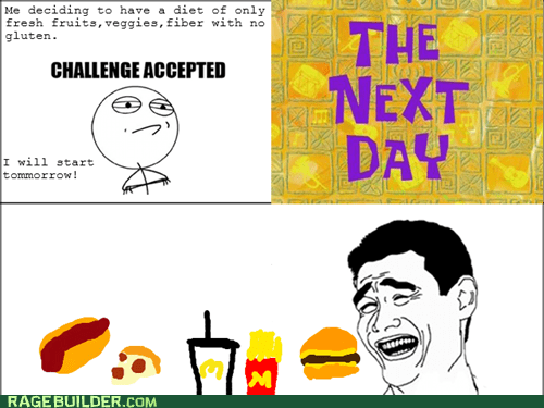 diet Challenge Accepted fast food - 6525446400
