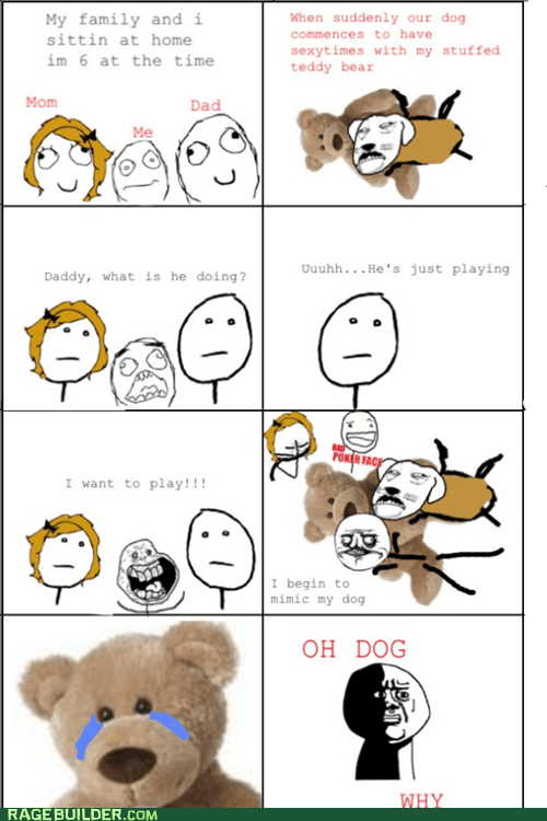 bad poker face,bear,humping,oh god why