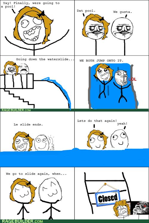 rage water slide me gusta pool closed whee - 6525530880