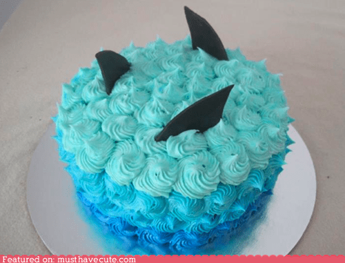 blue,cake,epicute,frosting,sharks,water