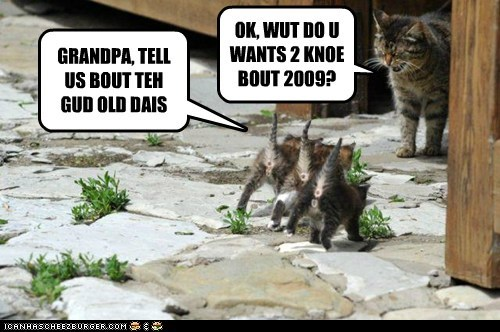 2009 captions Cats children good old days kitten old - 6525813760