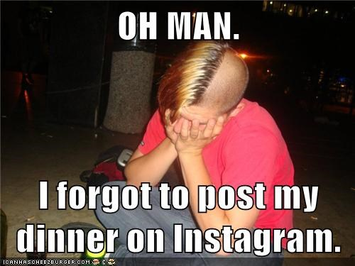 emo kid,First World Problems,instagram,pictures of food