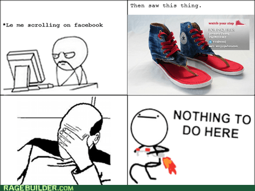 shoes,flip flops,nothing to do here,facepalm