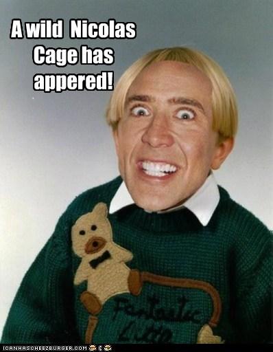 actor celeb funny nic cage nicolas cage Pokémon shoop