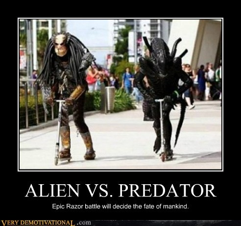 alien,Predator,race,razor scooter