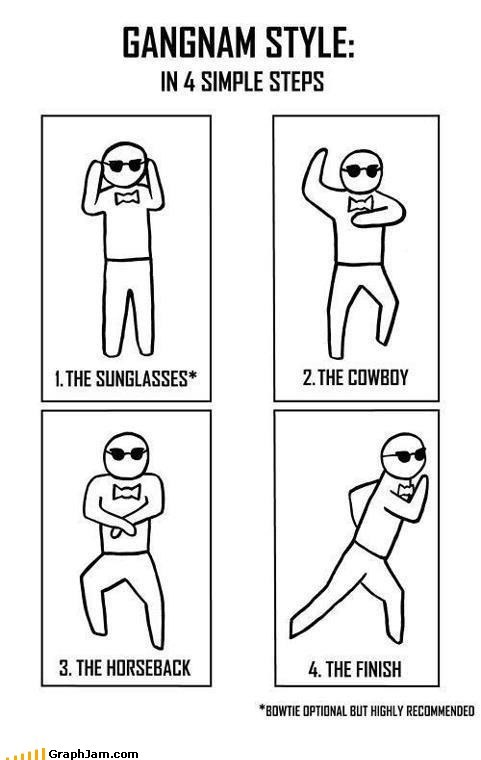 gangnam style,horseback,instructions,song