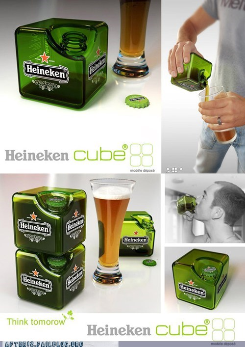 alcohol,alcohol of the future,beer,cube,Heineken,win
