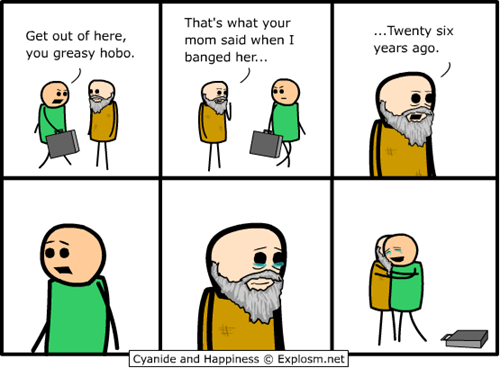 comic cyanide and happiness hobo - 6526870272