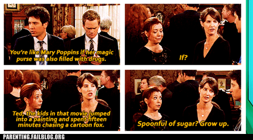how i met your mother,mary poppins,tv caption