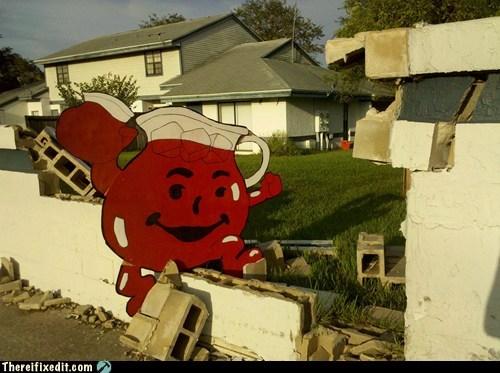 broken wall kool aid kool-aid man ohh yeah - 6526883840