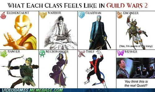 classes,guild wars 2,MMO,PC,total recall