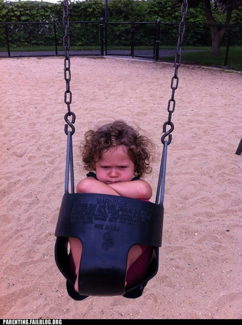 baby,grumpy,swing set