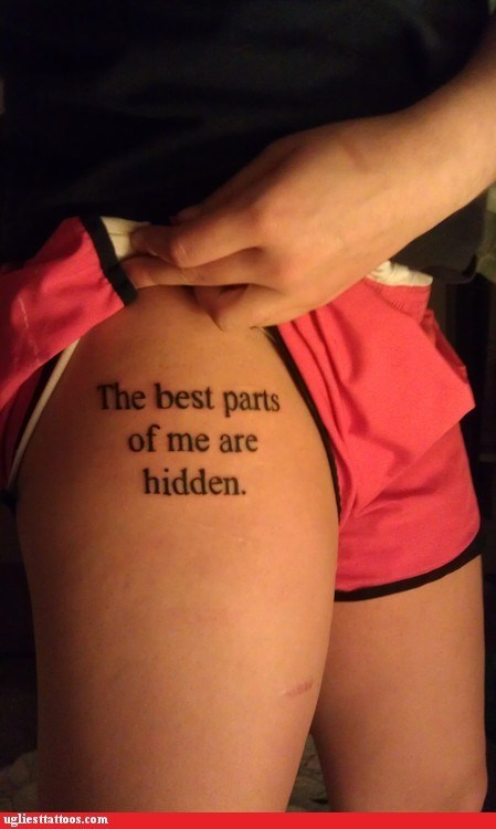 thigh tattoos g rated Ugliest Tattoos - 6526996992
