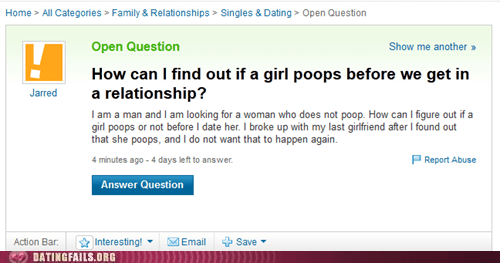girls not an issue pooping science yahoo answers Yahoo! answers - 6527031040