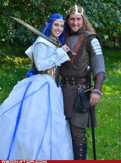 bride cosplay funny wedding photos groom medieval renaissance fair - 6527048960