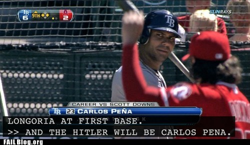 baseball closed captioning hitler typo whoops