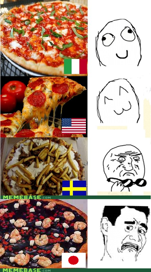 america,countries,Japan,pizza,shrimp,squid