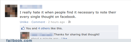 dumb status irony unnecessary status useless status