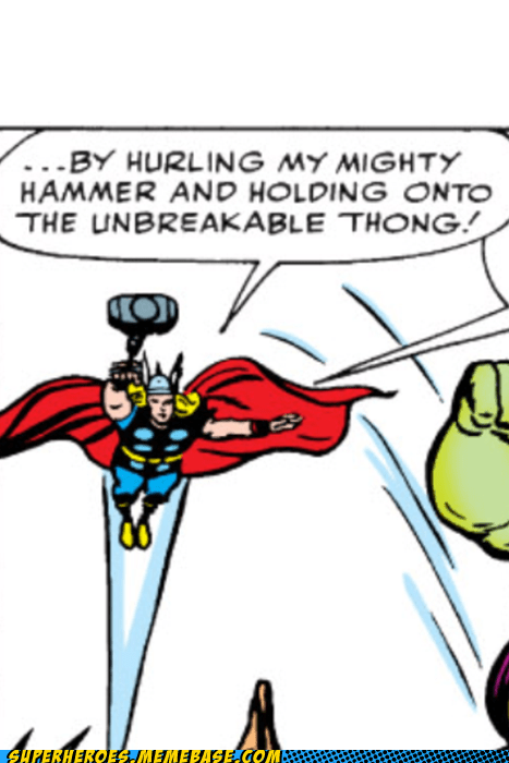 hammer mjolnir Straight off the Page thong Thor - 6527193344