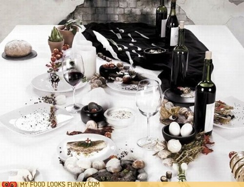 art face hidden illusion meal mosaic wine - 6527208192