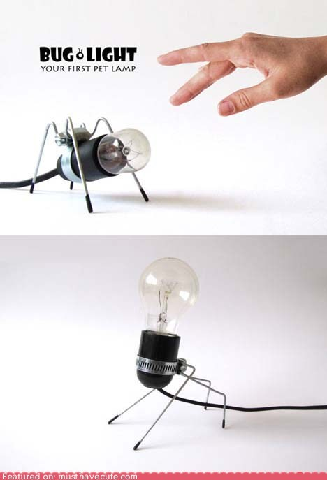 bug lamp light pet sculpture