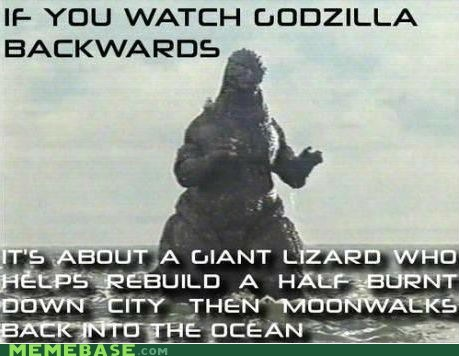 backwards movie,godzilla,lizard,ocean