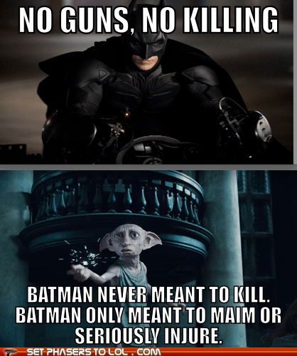 batman bruce wayne christian bale Dobby Harry Potter house elf injure main no killing - 6527246080