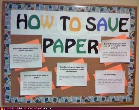 board irony saving paper school - 6527248640