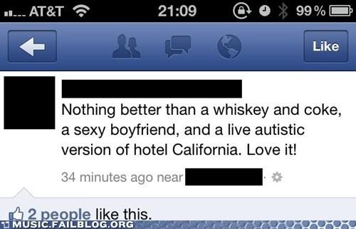 autistic facebook hotel california the eagles - 6527264256