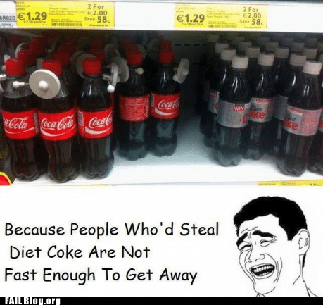 anti-theft,coca cola,diet coke,soda,yaoface