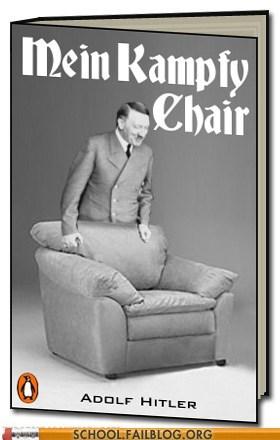 bargain books,hitler,mein kampf,mein kampfy chair