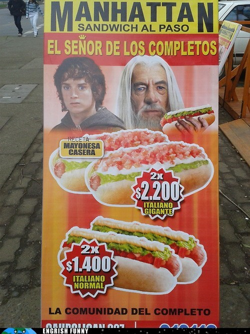 advertisement,best of week,Hall of Fame,hot dog,Lord of the Rings,street food