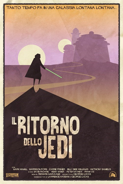 return of the jedi,sergio leone,spaghetti western,star wars