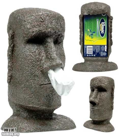 design easter island moai tissues