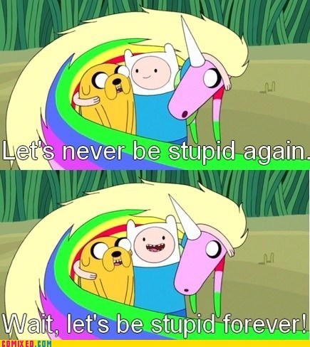 adventure time,cartoons,stupid,TV
