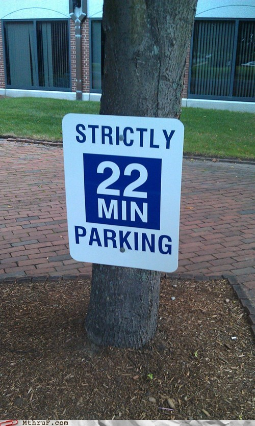 22 minute parking no parking parking parking lot