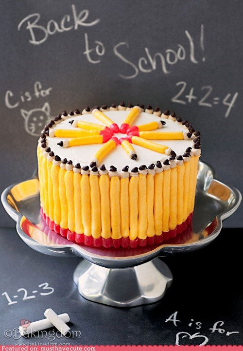 back to school cake frosting pencils - 6527362560