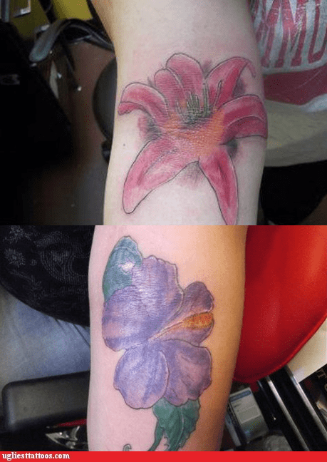 arm tattoos,flowers