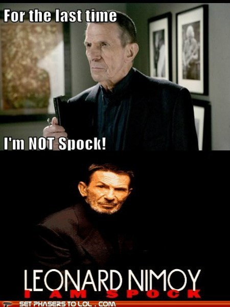 Fringe,i am not,i am spock,Leonard Nimoy,Spock,william bell